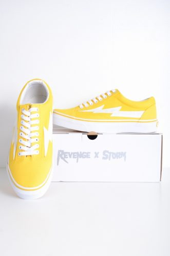 Revenge×stormリベンジストーム[日本POP UP限定モデル ローカットスニーカー/スケートシューズ/Yellow/黄]新品未使用[堀江]